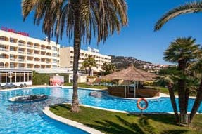 hotels with water slides in lloret de mar