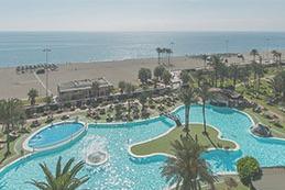 hoteles en primera linea de playa en roquetas de mar
