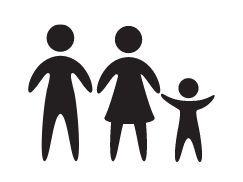 2 adultos + 1 niño